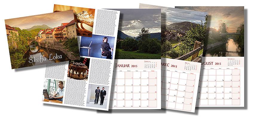 Unikatni koledarji po vaših željah