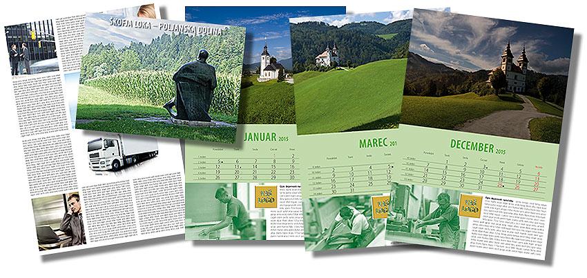 Unikatni koledarji - Najboljša promocija za vaš posel.